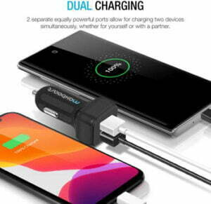 Maxboost Car Charger with 2 Smart USB ports